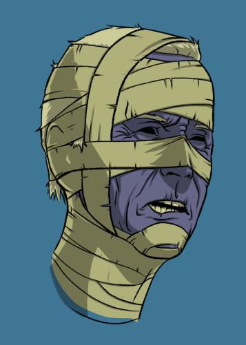 Undead Presidents Biden Mummy Head by Krappy Art